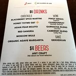 Menu: Happy Hour - Drinks, Beers