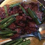 Mongolian Beef (sweet soy glaze, flank steak, garlic, snipped green onions)