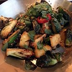Wok-Charred Brussels Sprouts (brussels sprouts, pineapple, fresno peppers)