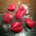 Red fortune cookies for the Chinese New Year