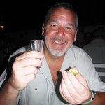 Paul enjoying his Tequila