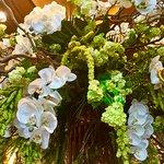 Beautiful floral arrangement in lobby