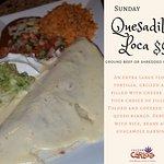 Monday: Quesadilla Loca