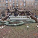 Sculpture Antelope Jumping照片