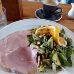 Ham with raw energy salad