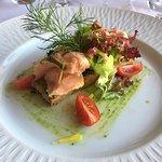 sablé parmesan et saumon mariné