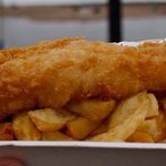 Lovely fish and chips.