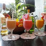 Fresh fruit juices and cocktails