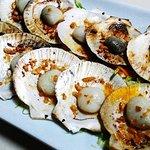 Chef's own recipe scallops