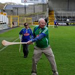 Striking the sliotar