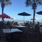 Ocean view from outdoor dining area.