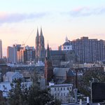 city triplex/  master bath/ roof deck views
