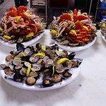 Des fruits de mer bien frais :pauvre en calories et riche en vitamine.