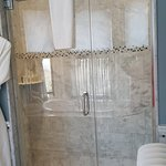 2 person shower with rainfall showerhead and body spray