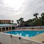 View of heated pool from kiddie pool area