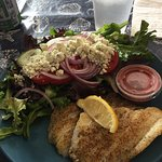 Grilled Hogfish and salad