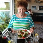 Carol and her chicken salad