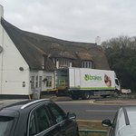 The delivery lorry logo gives an indication of the quality of the food served.