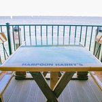 Complete open-air deck with seating along the Charlotte Harbor