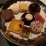 "Dessert treat tray. One of two ""free"" dishes served with each meal."