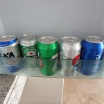 we were typically provided 2 beer, 3 sodas and two bottles of water