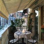Rooftop restaurant terrace