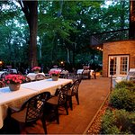 Outdoor dining for 40 on our lovely patio