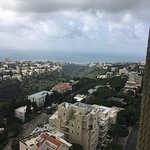 View of Haifa from 12th floor with Mediterranean in the distance