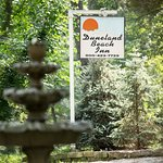 Duneland Beach Inn sign to greet guests upon arrival