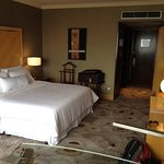 The room was very comfortable and very well furnished. The bathroom was superb.