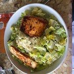 Cesar salad with salmon