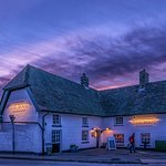 Pub at sunset