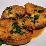 pan fried black cod w/ maggie sauce