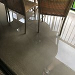 flooded lanai letting water into our room