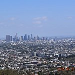 Griffith Observatory, view of LA