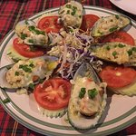 cheese baked mussels