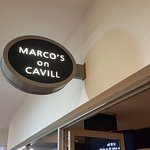 Marcos is at the end of a small mall off Cavill