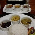 Curry selection with rice