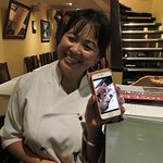 Chef Lanna with photo of Simba