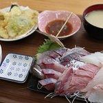 天ぷら・刺身定食