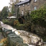View of the Ghyll from outside the cafe