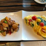 Veggie Omelette with country fried potatoes