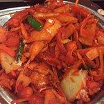 Kotthu parotta filled with orange food color and ZERO flavor