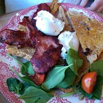 Poached Eggs, Toast & Bacon