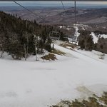 Feb. 23, 2018 — warm temps made trails icy; most were closed. The view is still breathtaking fro