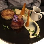 Drakes Tournedos…Trenchmore Sussex Wagyu beef fillet, Foie Gras, oxtail ravioli, brioche with a