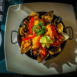 Paella is our specialty, the Argentinian way