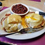 A most delicious crab cake Benedict. I regularly go to the union Diner, and love both the staff,