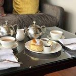 Cream tea in the champagne lounge