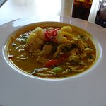 King Prawn and Chicken Laska with Noodles